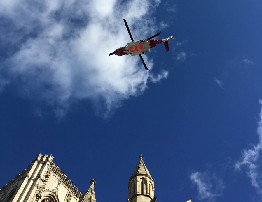 BREAKING NEWS: Man Rescued By Air Ambulance From York Minster Steeple