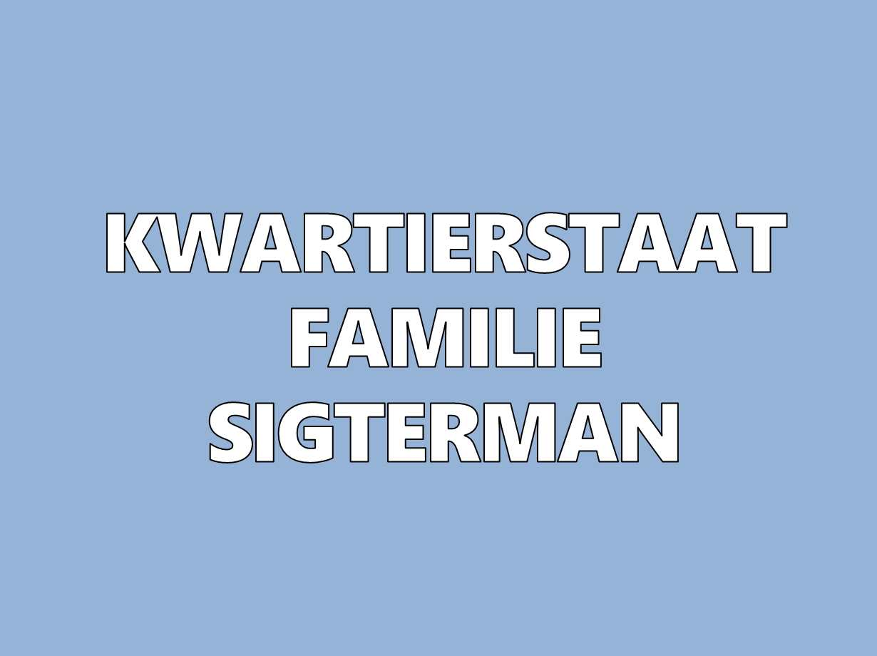 kwartierstaat Sigterman stamboom-1
