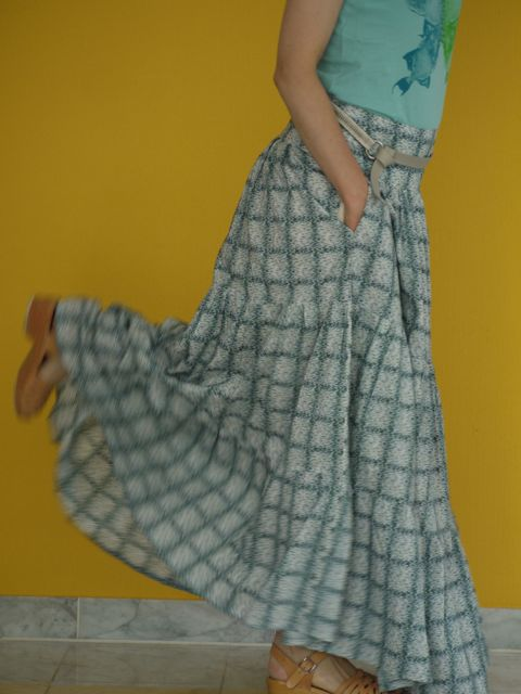 Burdastyle tiered maxi skirt in Liberty tana lawn cotton