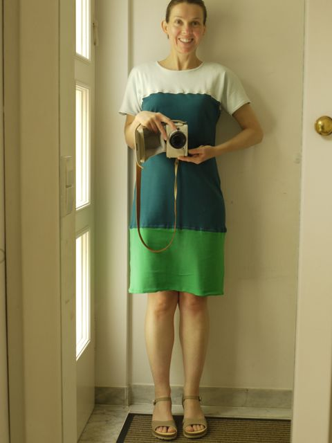 #MMM14 - Day 22 - Vogue colour-block dress in interlock cotton jersey.
