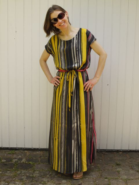 April Rhodes Staple Dress in maxi length in Italian silk crepe de chine.