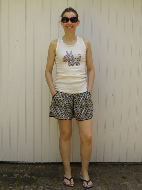 Made With Moxie Prefontaine Shorts in Liberty print cotton.