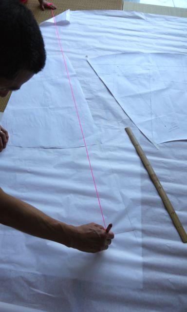 tracing hemline