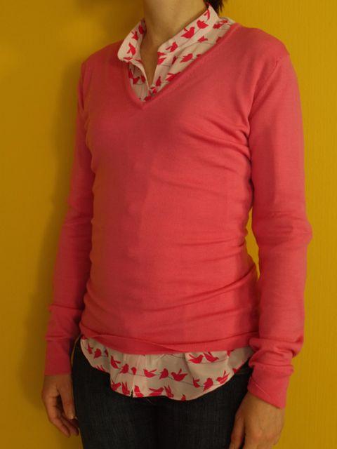 Ralph Pink blouse and John Smedley jumper.