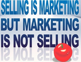 marketing is not selling