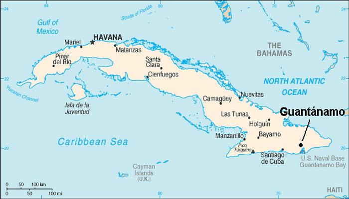 Dónde está Guantánamo