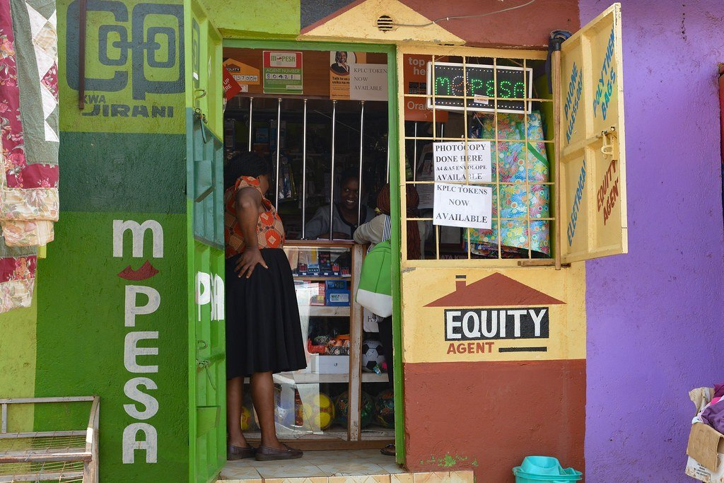 Image of an M-pesa stand