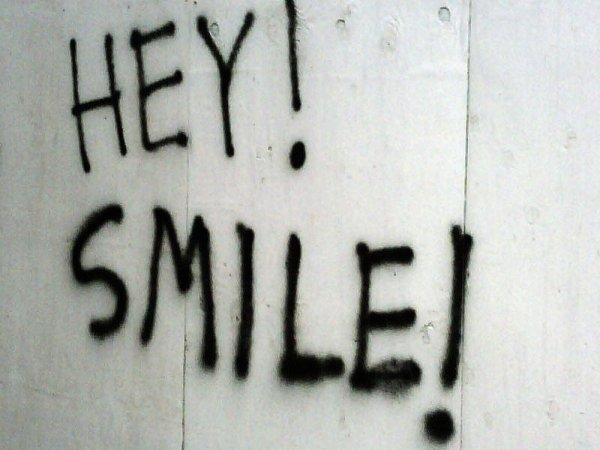 Image of positive message graffiti