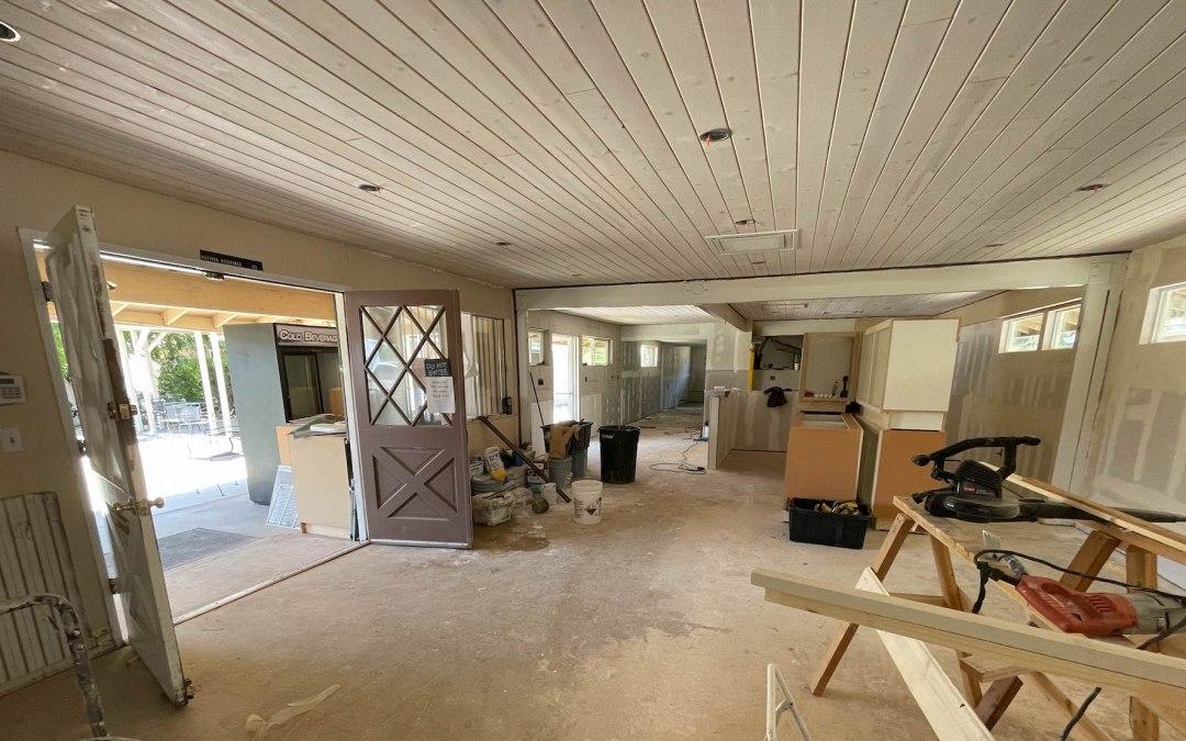 Cafe renovation moving along