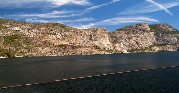 Hetch Hetchy Reservoir July, 2014. At the highest level I've ever seen.