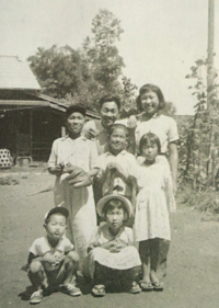 1951, Three brothers and two sisters. Yoshio is on the left in the front row.