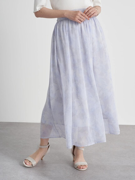 Rika&Albert-earth優雅透視感大理石紋路垂墜裙.紫-官網顏色照