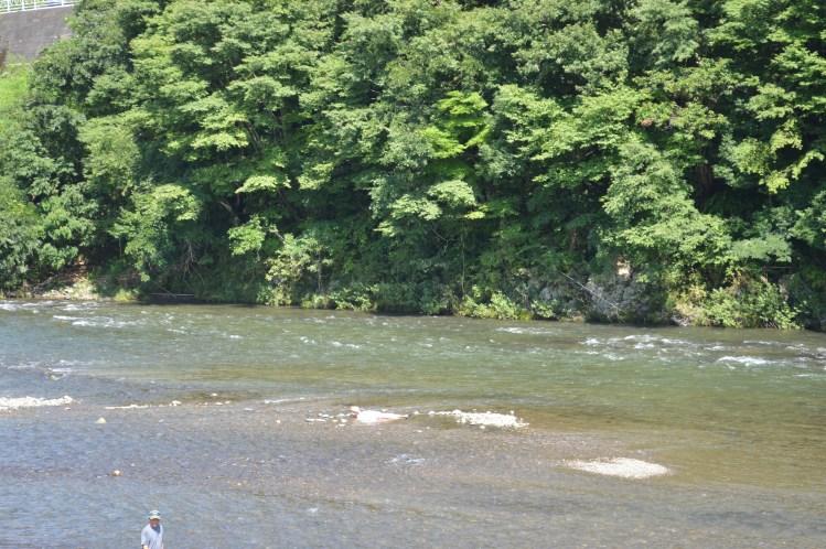 奥久慈久慈川だいご観光やな川遊び