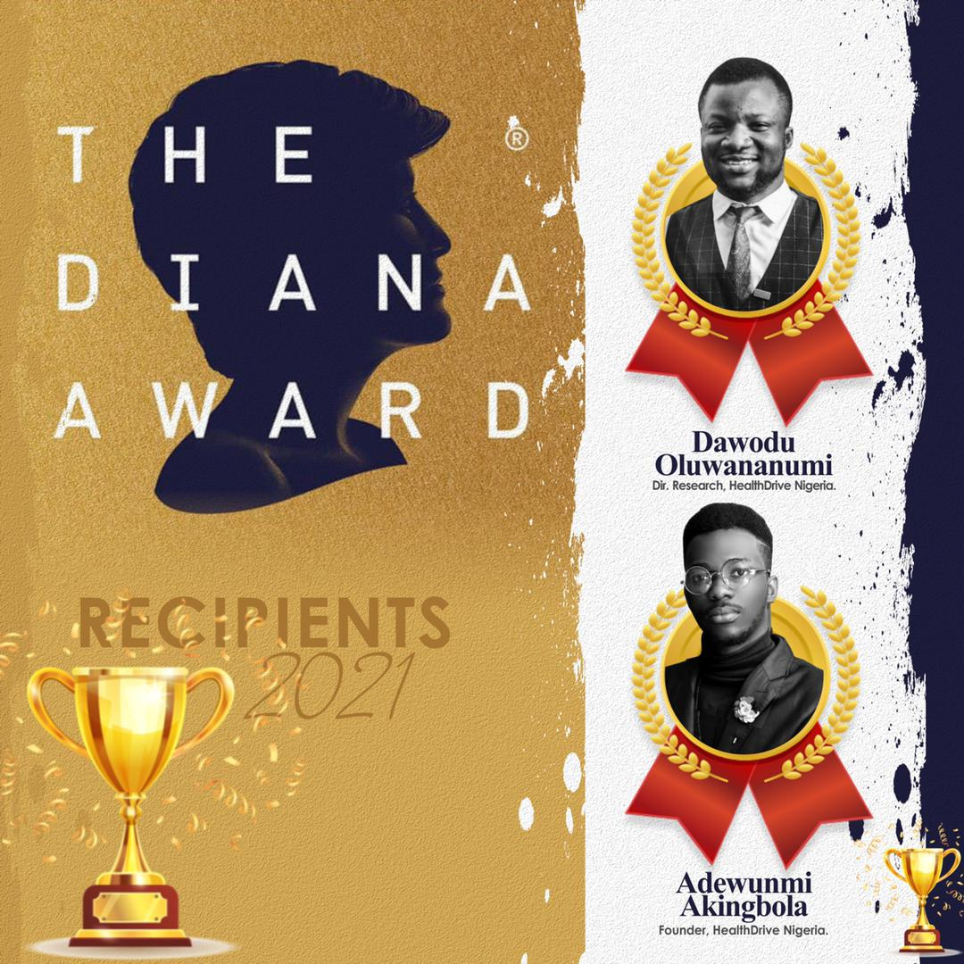 Read more about the article Two young change makers awarded in memory of Late Princess Diana