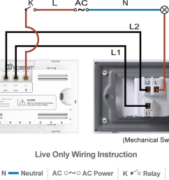 option 1 connect yoswit 3 way switch with common 3 way switch 2 wire without neutral wire  [ 1140 x 784 Pixel ]