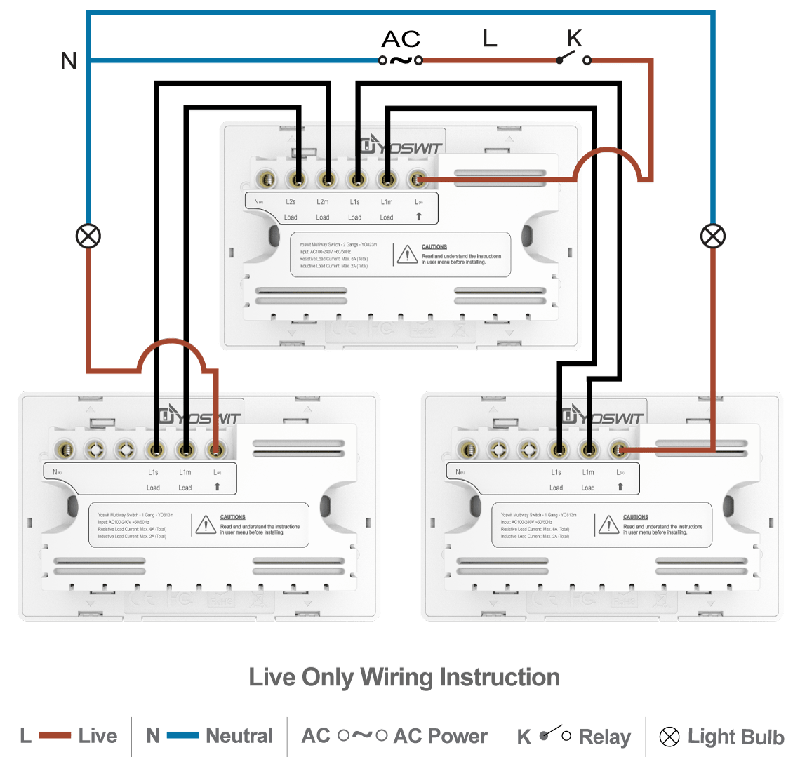 hight resolution of option 4 connect three yoswit 3 way switches 3 wire with neutral wire