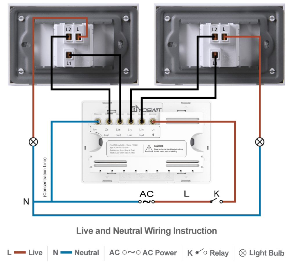 medium resolution of option 2 connect yoswit 3 way switch with two common 3 way switches 3 wire with neutral wire