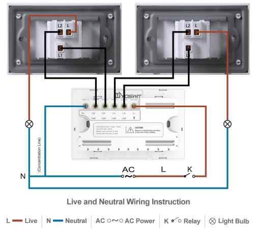 small resolution of option 2 connect yoswit 3 way switch with two common 3 way switches 3 wire with neutral wire