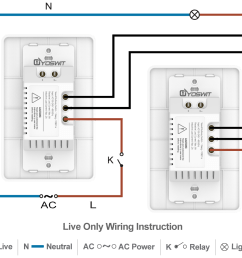 option 3 connect two yoswit 3 way switches 2 wire without neutral wire  [ 1140 x 957 Pixel ]