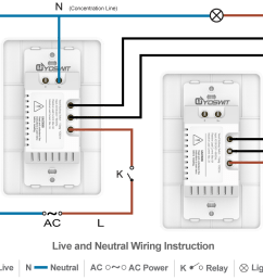 option 4 connect two yoswit 3 way switches 3 wire with neutral wire  [ 1140 x 957 Pixel ]