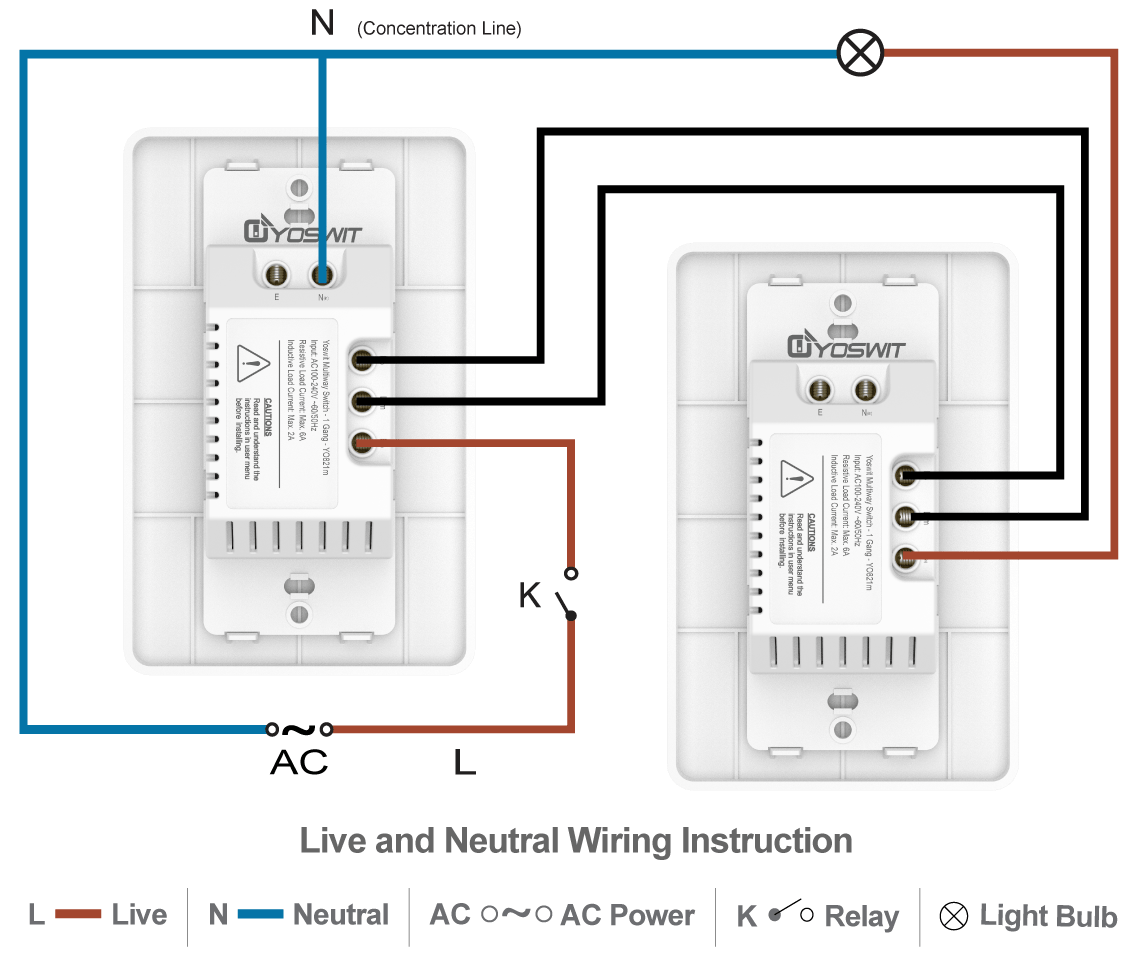 hight resolution of option 4 connect two yoswit 3 way switches 3 wire with neutral wire