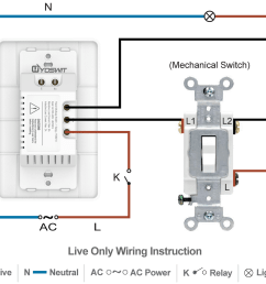 option 1 connect yoswit 3 way switch with common 3 way switch 2 wire without neutral wire  [ 1140 x 941 Pixel ]