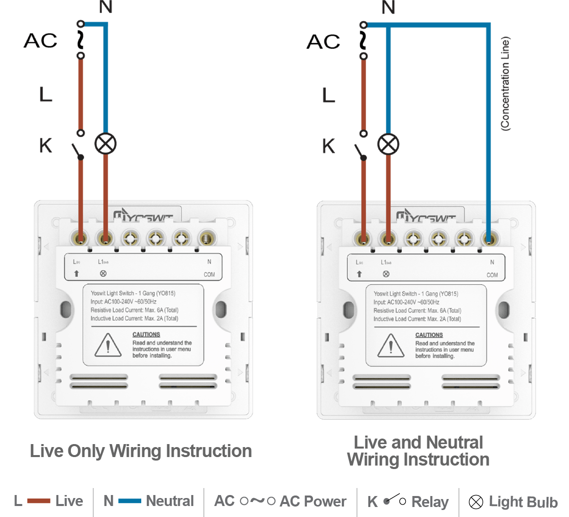 wiring a light without neutral