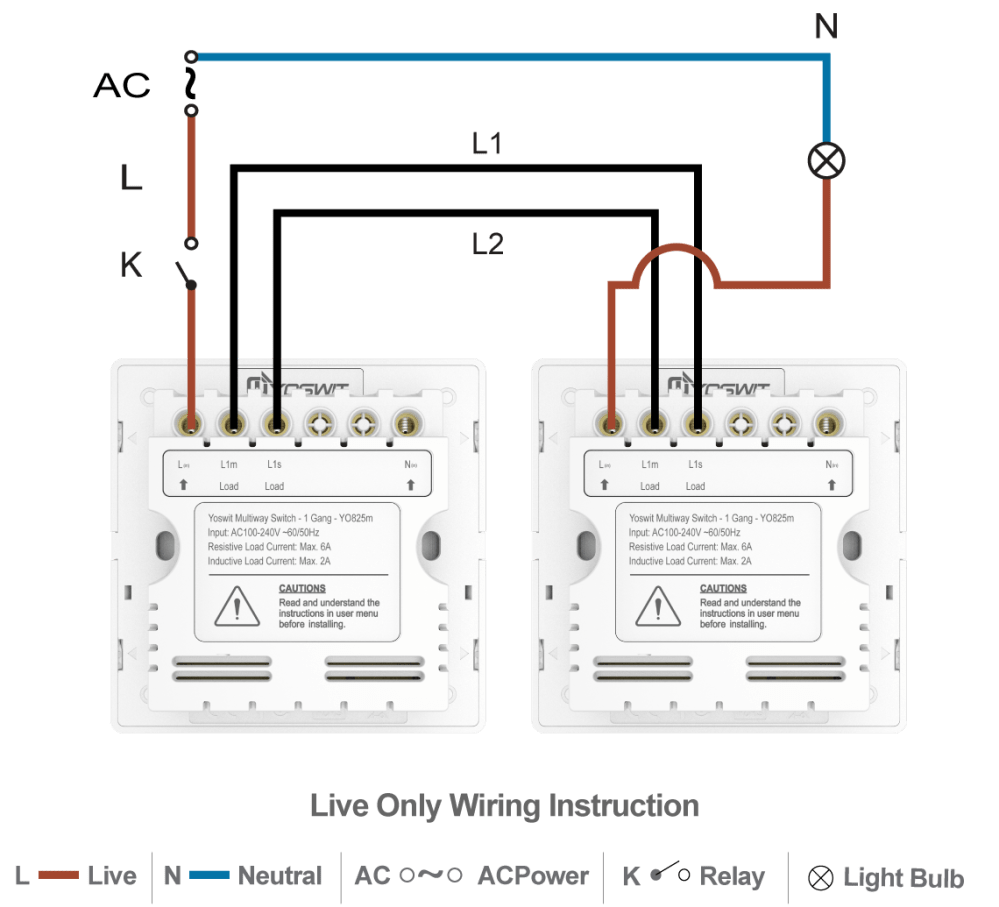 medium resolution of option 3 connect two yoswit 3 way switches 2 wire without neutral wire