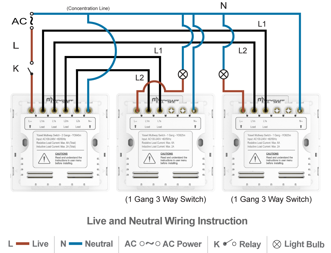 2 gang way light switch wiring diagram century ac motor 115 230 volts smart 3 socket 86 home
