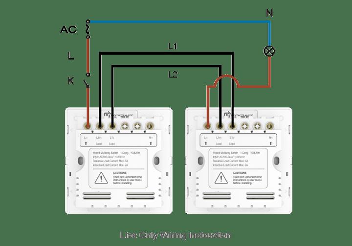 multi pole switch wiring diagram