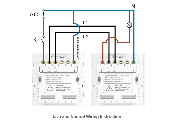 smart home switch wiring