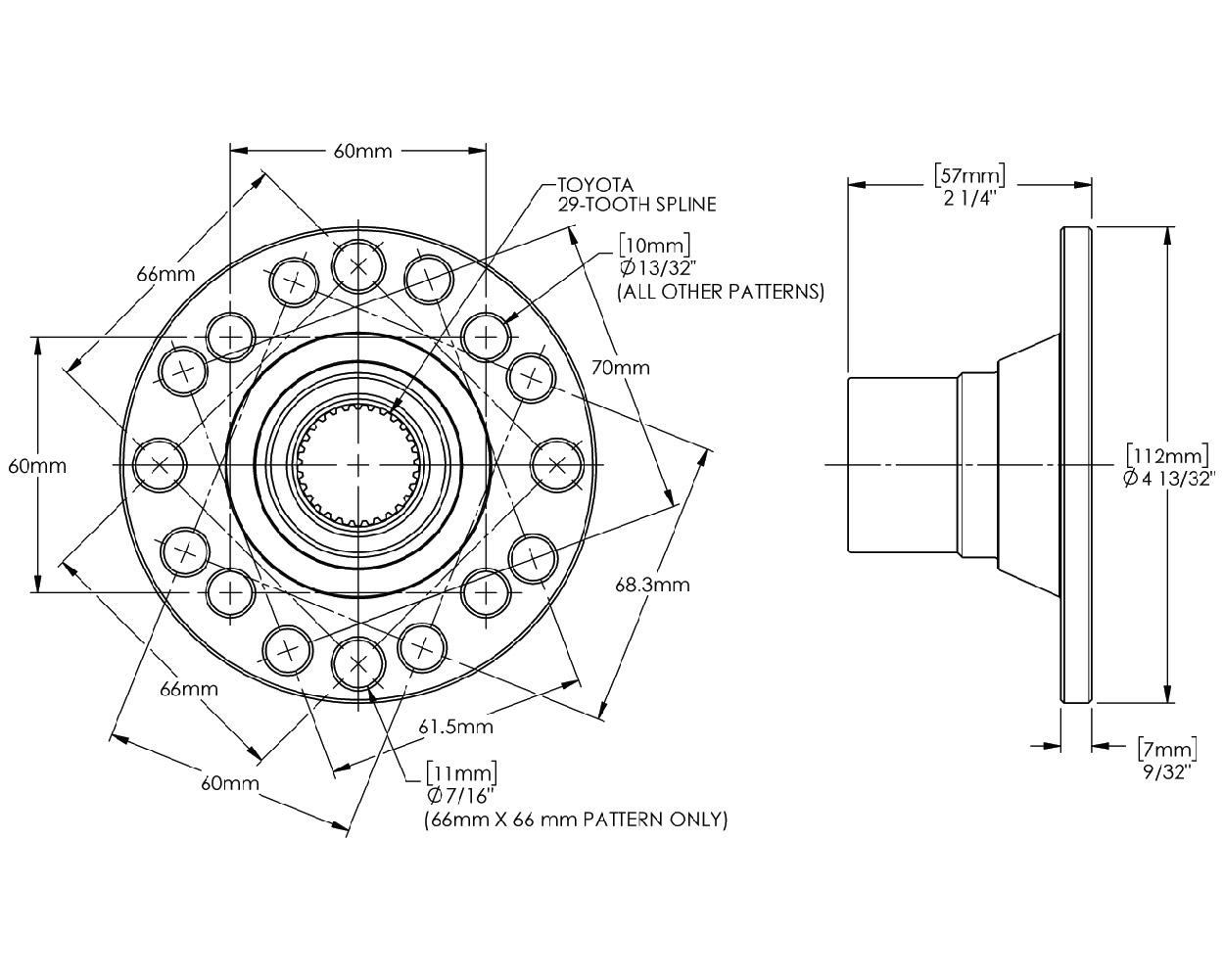 Trail-Creeper™ 29-Spline Ring & Pinion Gears w/ Flange Kit