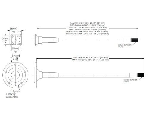 small resolution of longfield sidekick tracker rear axle kit