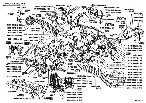 small resolution of toyota pickup 22re vacuum diagram toyota 22re vacuum line diagram 1989 toyota 22re vacuum diagram 91