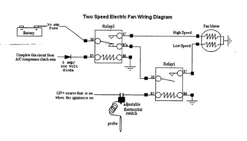 wiring diagram for electric fan wiring image electric fan wiring diagram relay wiring diagram on wiring diagram for electric fan