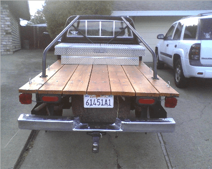 Build Plans How To Build A Wooden Flatbed For A Pickup Wooden