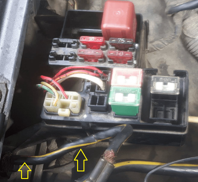 Diagram White Wire Ground Output Yellow Wire Power Output Red Wire