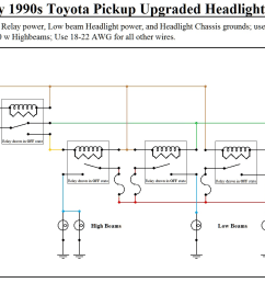 headlight upgrade with wiring schematic toyota wiring upgrade 1 png [ 1815 x 943 Pixel ]
