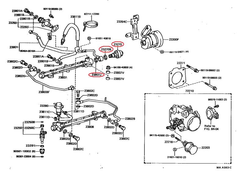 Toyota 3 0 V6 3vze Engine Hose Diagram Toyota V6 Engine