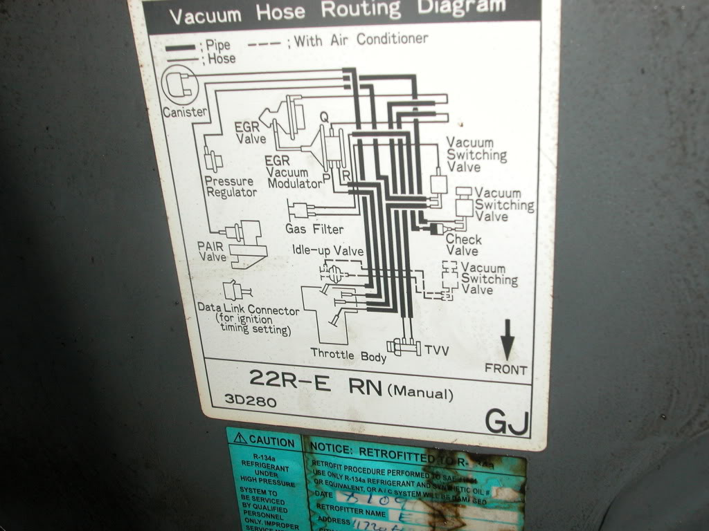 hight resolution of yotatech forums 86 toyota vacuum hose diagram 86 toyota vacuum hose diagram