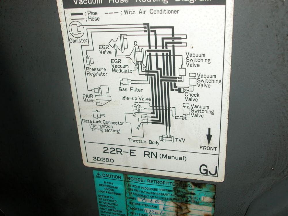 93 Toyotum 22re Engine Diagram -