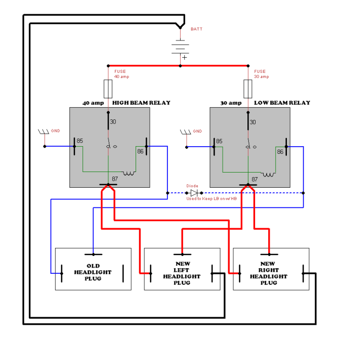 toyota headlight wiring  wiring diagram diodewindowa