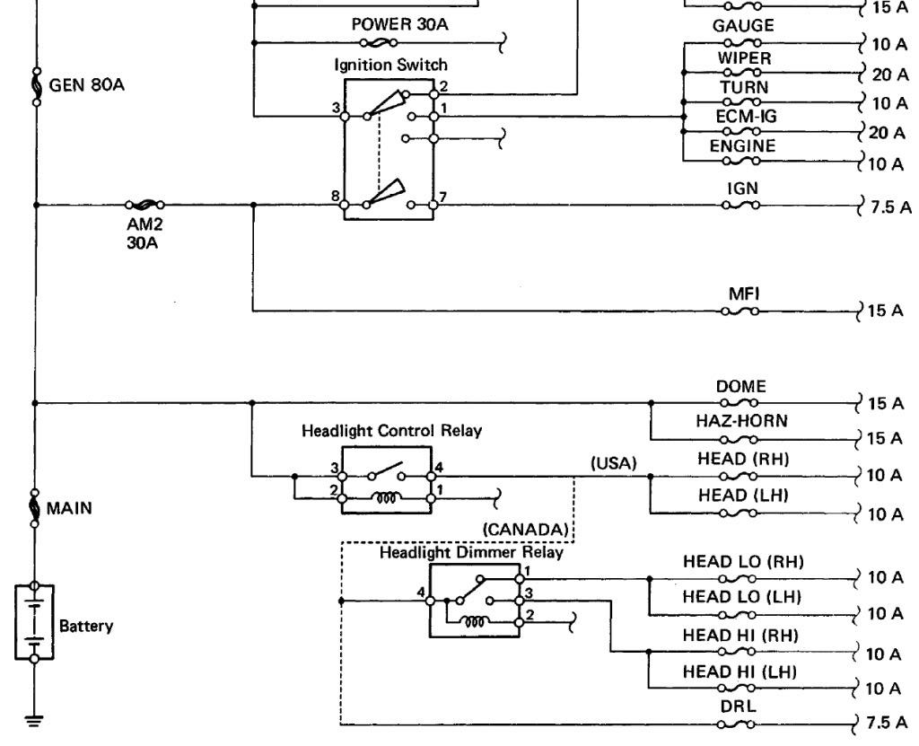 1991 toyota pickup headlight wiring diagram club car precedent 48 volt 4 battery auto parts