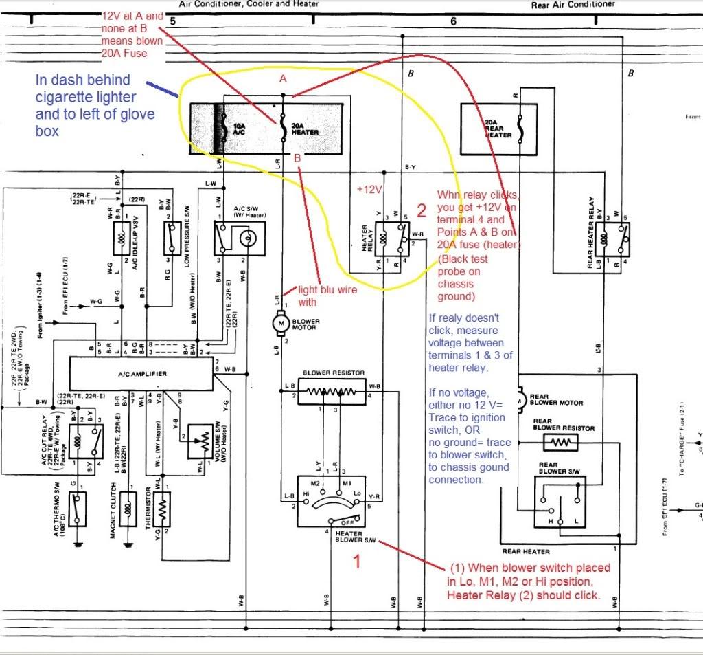 1999 toyota 4runner limited radio wiring diagram diy guitar diagrams tacoma ac parts