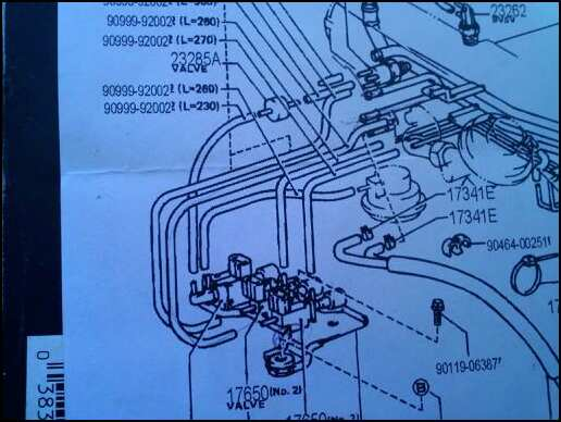 1989 Toyota V6 Vacuum Diagram