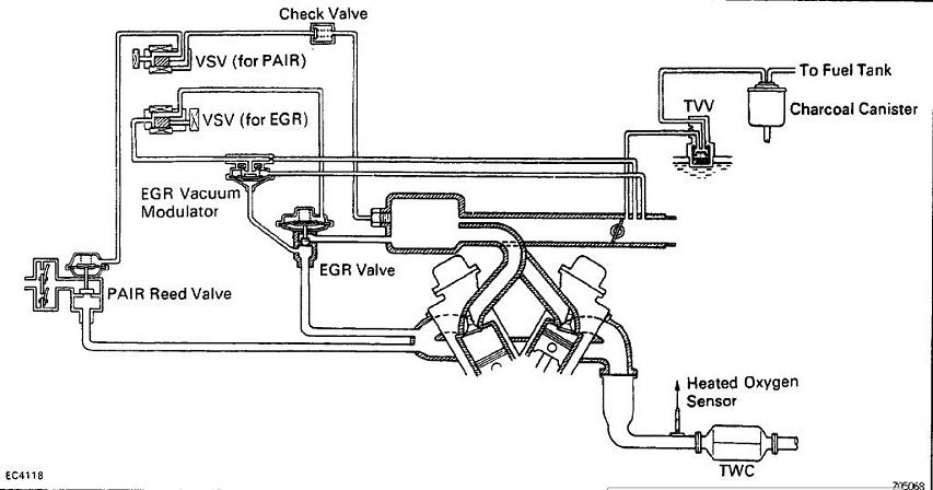 1987 toyota pickup vacuum line diagram 66 block wiring need 1995 v6 hose help yotatech forums 5 jpg