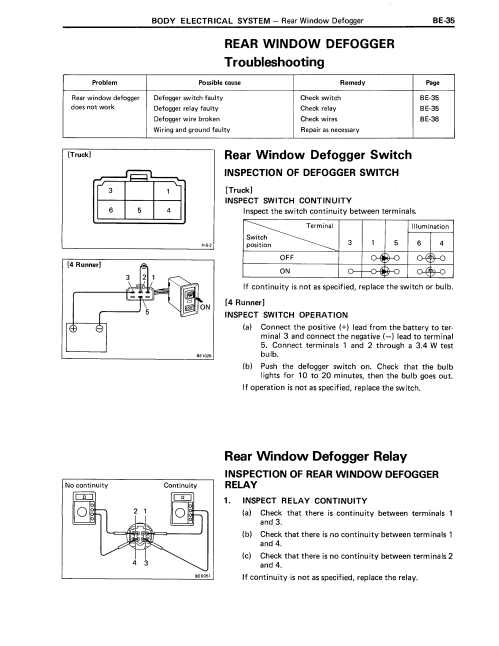 small resolution of 88 4runner rear widow defroster wiring help toyota truck and 4runner 88 defogger page 1 png