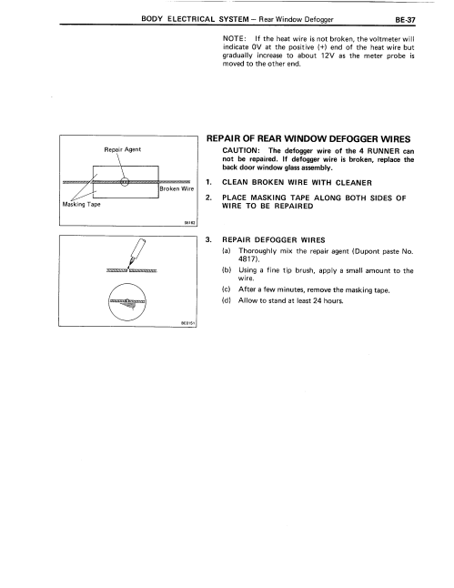 small resolution of  88 4runner rear widow defroster wiring help toyota truck and 4runner 88 defogger page 3 png