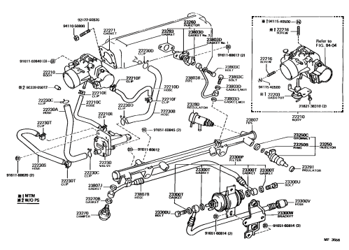 small resolution of 22re coolant hoses 1st gen 4runner fuel injection diagram png