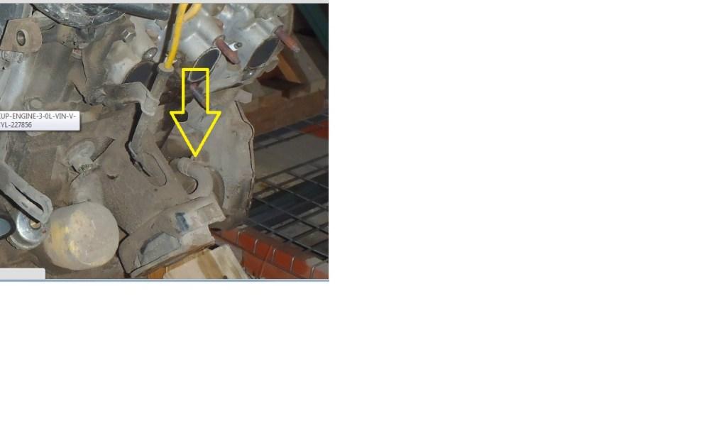 medium resolution of 3 0 coolant bypass hose rear intake 3zve engine jpg
